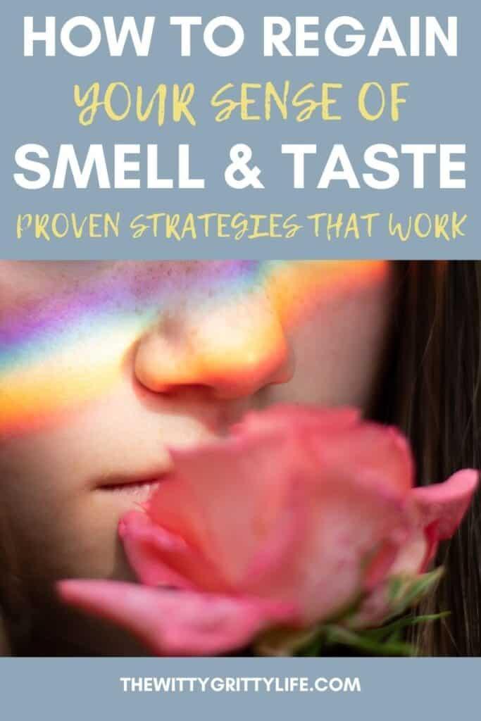 pinterest image for regain lost sense of smell and taste