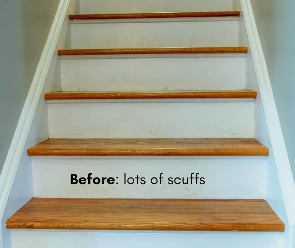 stairs all scuffed up