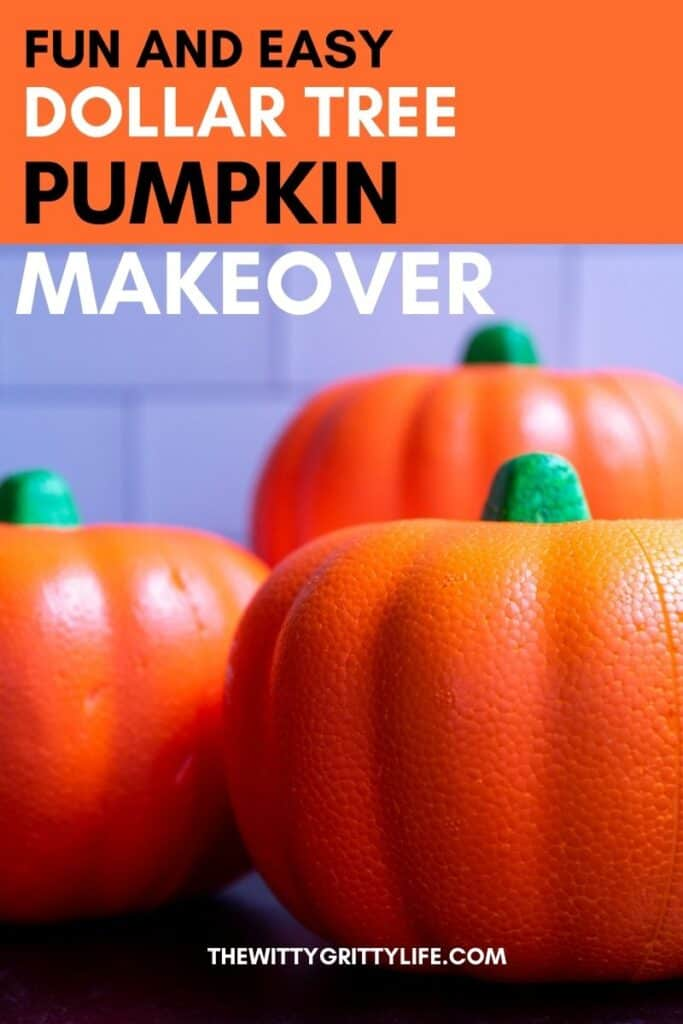 Dollar tree pumpkin pinterest image