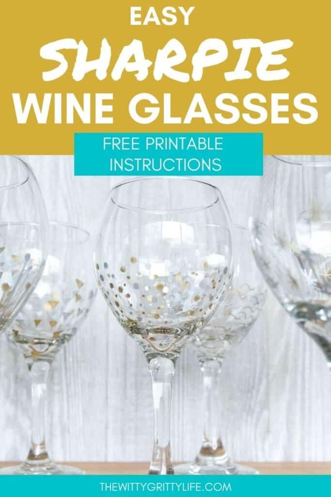 Easy sharpie wine glasses
