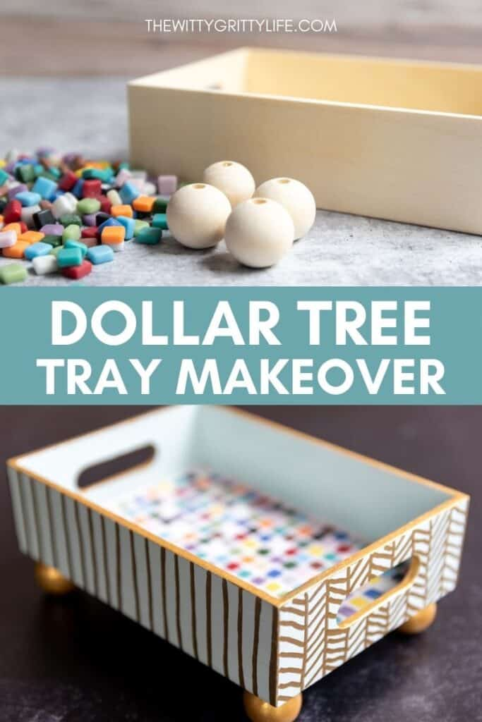dollar tree tray makeover pinterest image