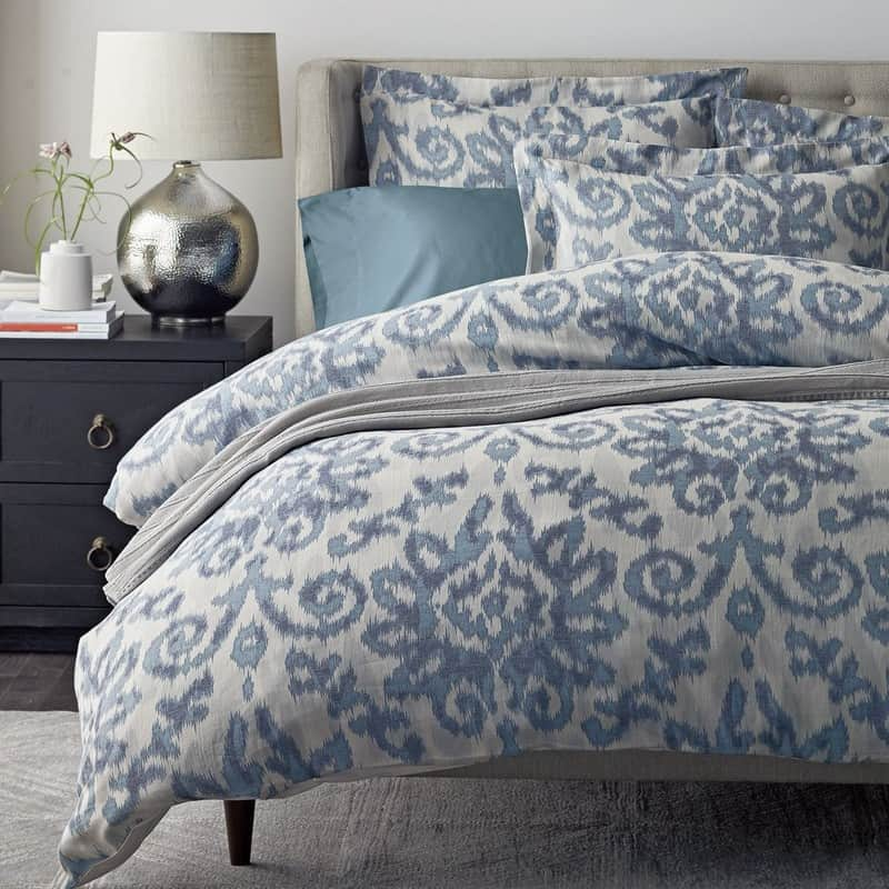 picture showing blue and white duvet cover
