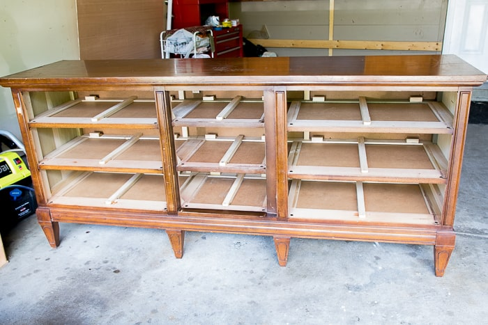 Picture of wood dresser with drawers removed