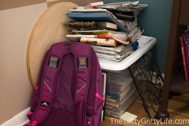 picture of clutter in a corner