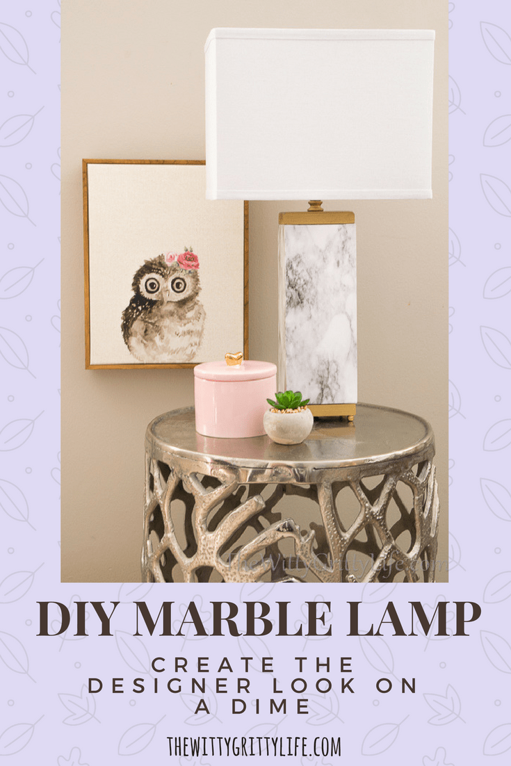 Like the look of marble but not the hefty price tag? Why not create your own gold and marble look lamps! They are easier to create than you might think and give you the designer look you crave on a dime!