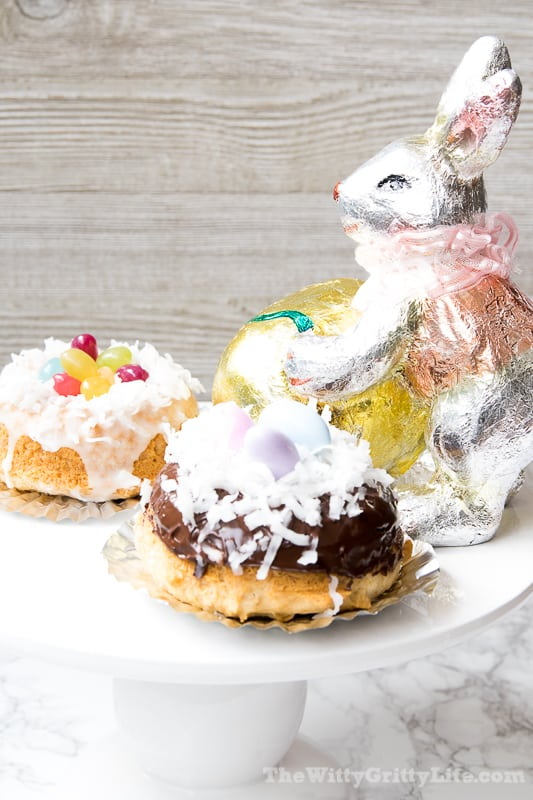 Easter Bunny nests with decor
