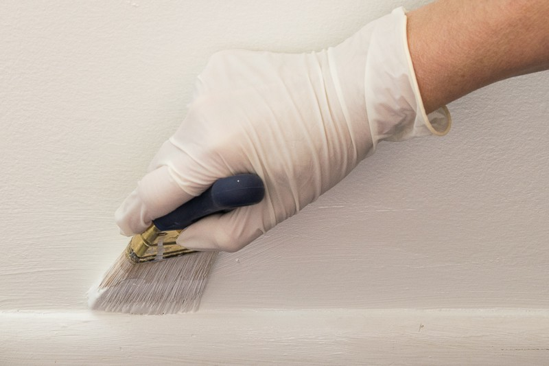 painting edge with a brush
