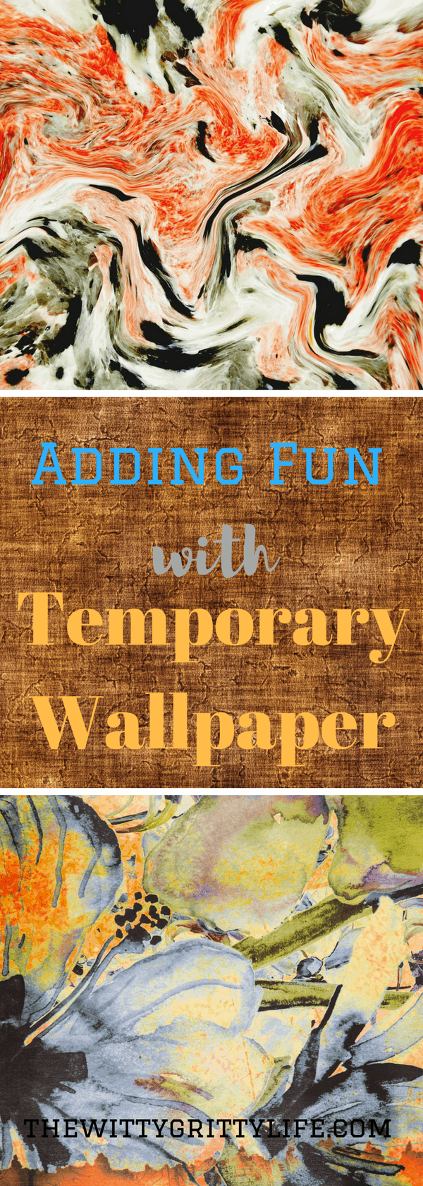 Temporary wallpaper is a fun new way to add interest and pops of color to any room of your house! No longer for apartment dwellers only, temporary wallpaper is equally at home in your living room, kitchen or kids room. Bathroom in need of a quick spruce up? You will love this little DIY project! Come and explore all the possibilities and advantages temporary wallpaper has to offer!