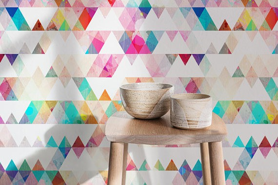 multi color triangle wallpaper