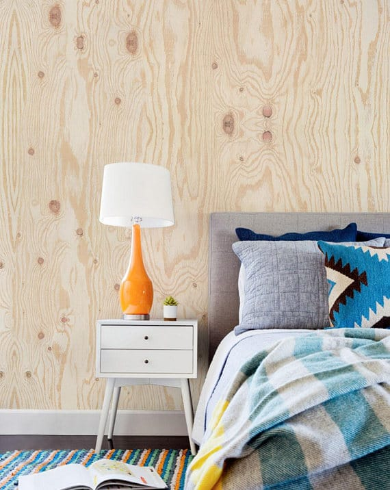 plywood look temporary wallpaper