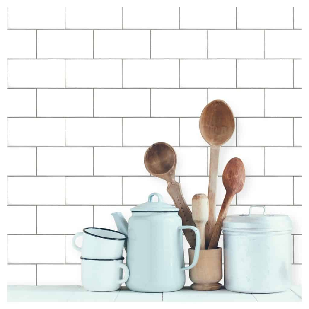 subway tile temporary wallpaper
