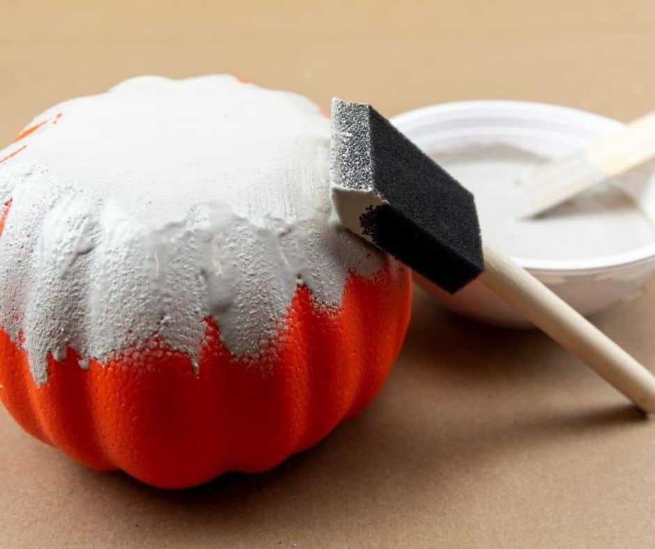 bottom of pumpkin painted