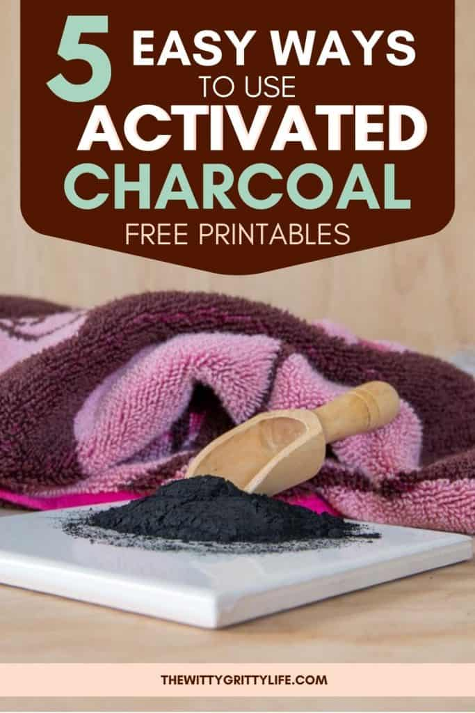 pinterest image 5 easy ways to use activated charcoal