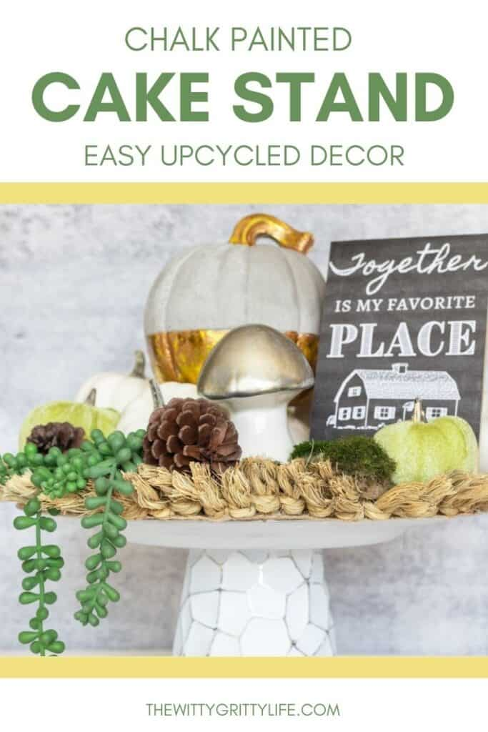 EASY DIY CAKE STAND PINTEREST IMAGE