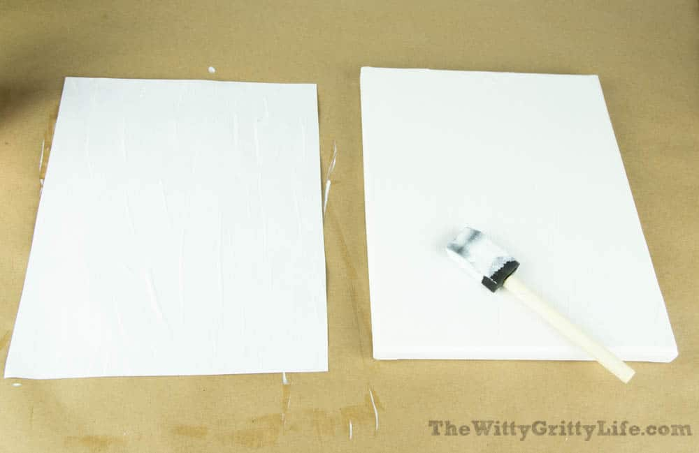 mod podge applied to canvas and free printable for diy wall signs with quotes