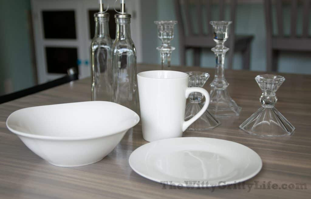 a small assortment of dishes and glass ware that can be found at dollar tree
