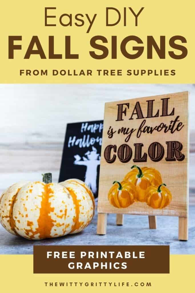 easy diy fall signs