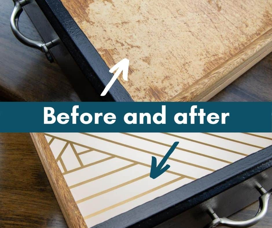 before and after of easy drawer liners
