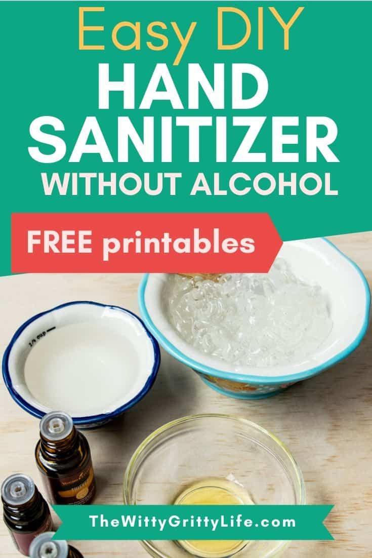easy hand sanitizer pinterest image