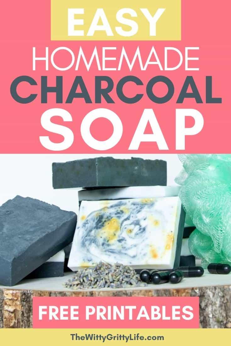 easy homemade charcoal soap