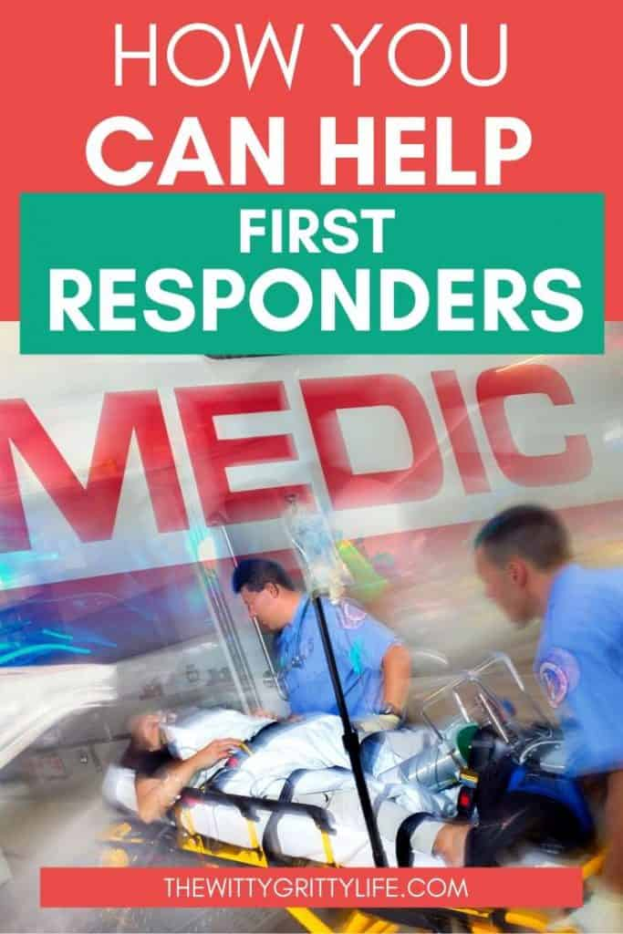 how you can help first responders