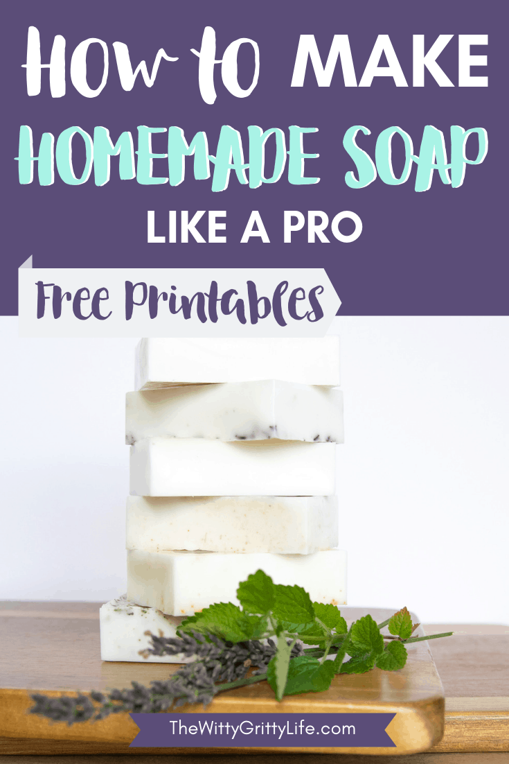 easy natural homemade soap bars in a stack