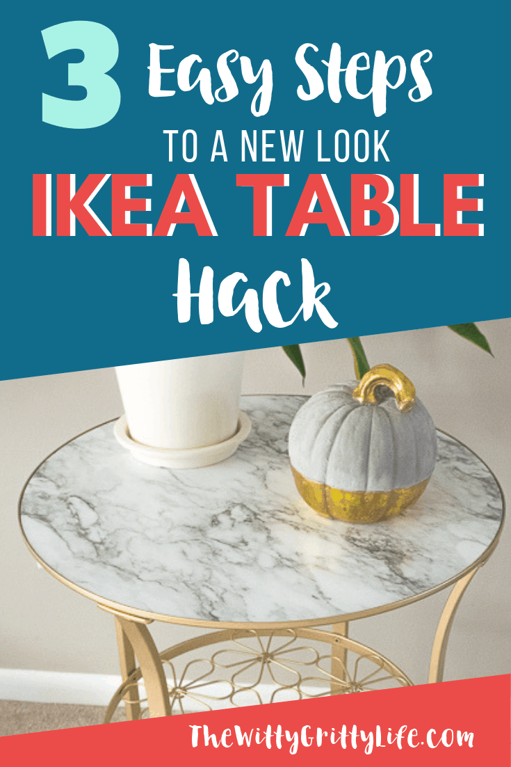 Ikea gold and marble look table
