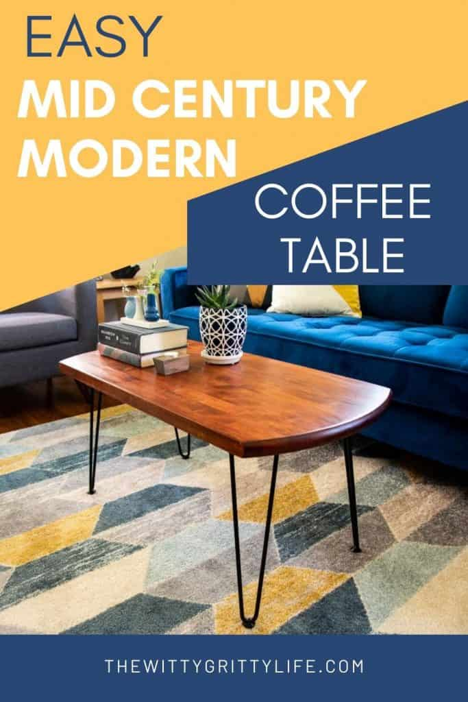 easy mid century modern coffee table pinterest image