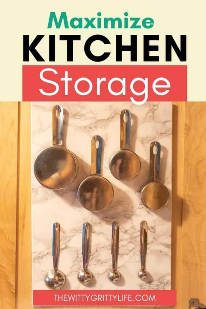 Maximize kitchen storage pinterest image