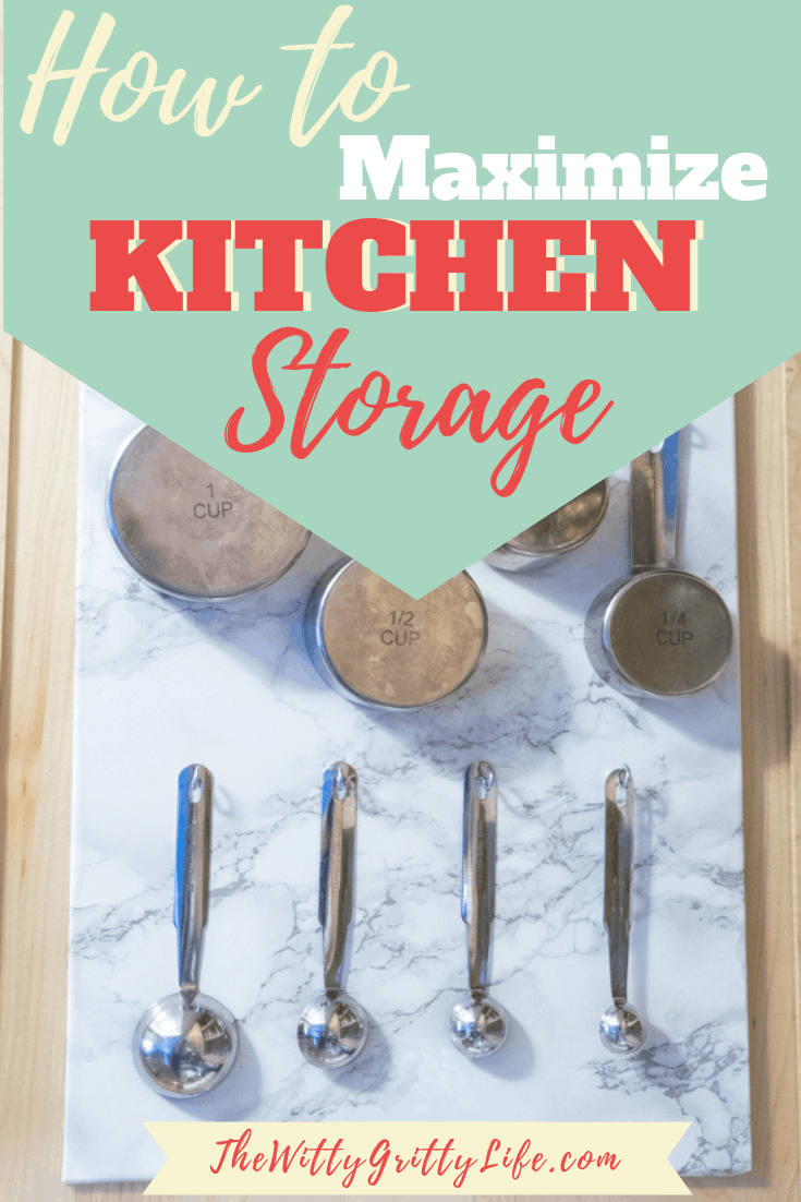 Maximize kitchen storage by making the most of every little bit of space! Organization doesn't have to be difficult and many space saving solutions are easy to DIY. Today I am showing a simple cabinet storage solution you can use to keep your drawers, shelves and cupboards clutter free. Going vertical with storage will free up valuable space in even the smallest kitchen, bathroom or even RV.