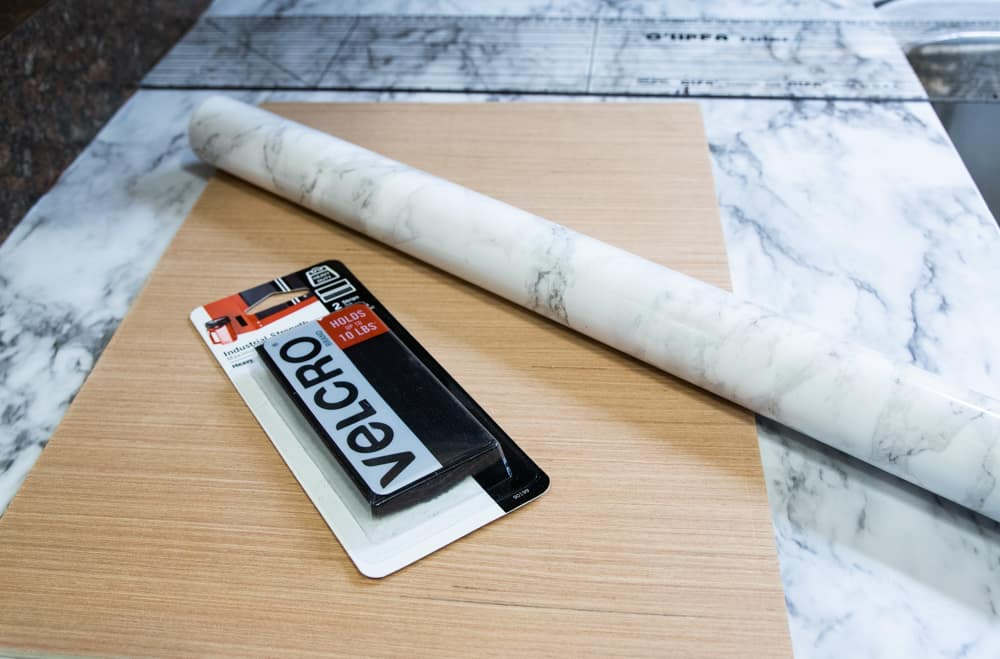 marble adhesive liner for holder board to maximize kitchen storage