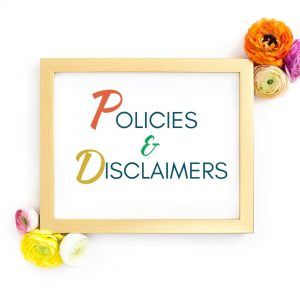 Policies & Disclaimers