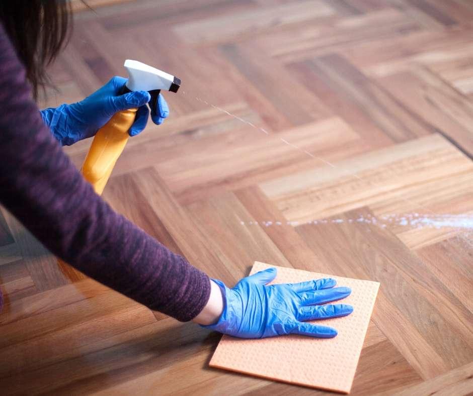 IMAGE OF FLOOR BEING CLEANED