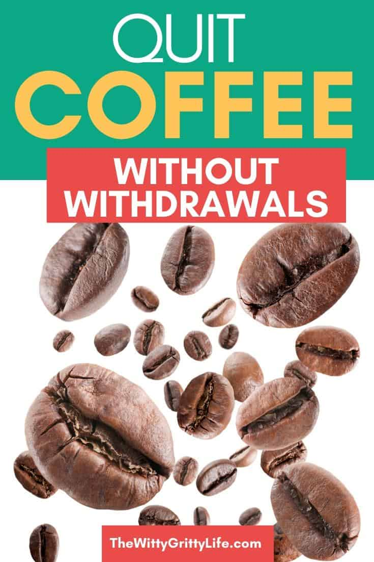 quit coffee without withdrawals image of falling coffee beans