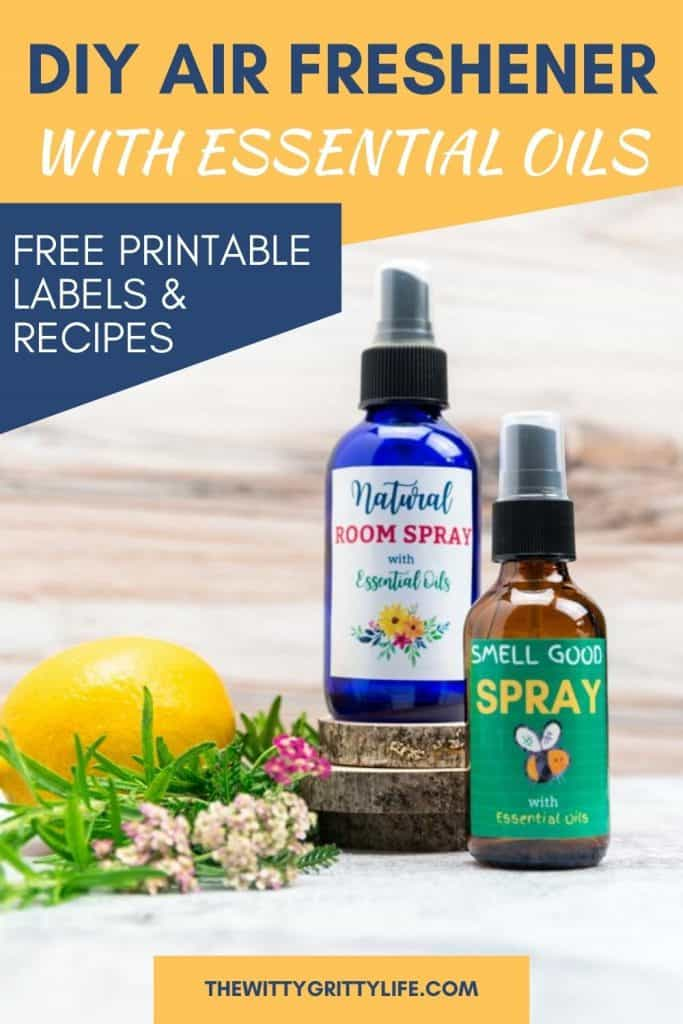 diy air freshener with essential oils pin
