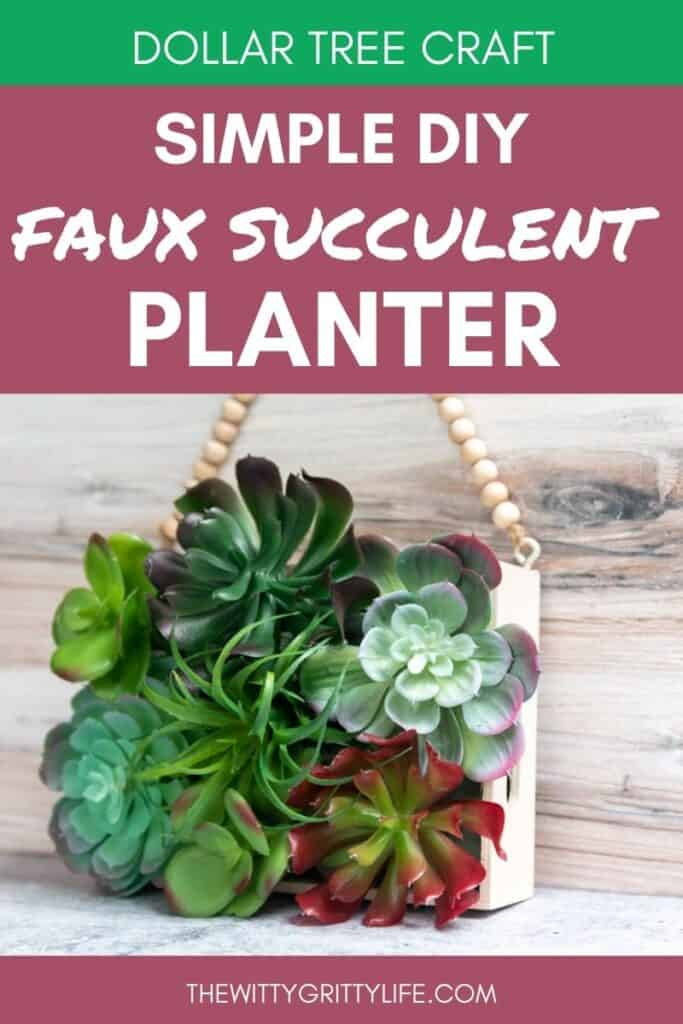 How To Create A Faux Succulent Wall Planter It S So Easy Thewittygrittylife Com