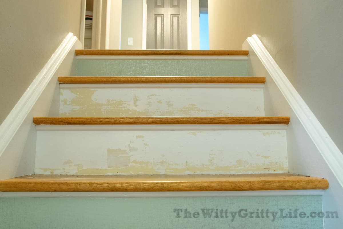 Temporary wallpaper stair risers5 1 of 1