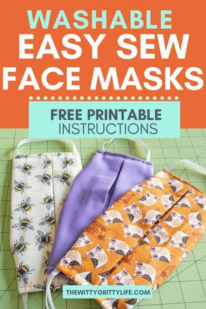 pinterest image for washable face masks