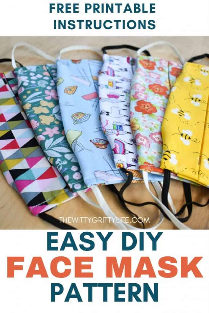 pinterest image titled easy diy face mask pattern free printable instructions