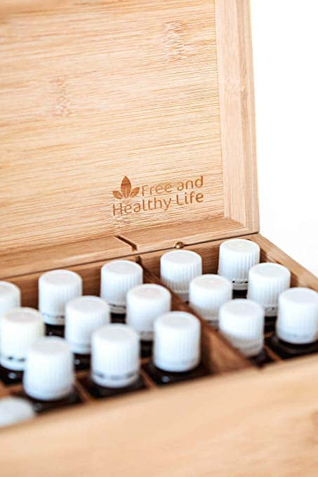 bamboo storage box for essential oils