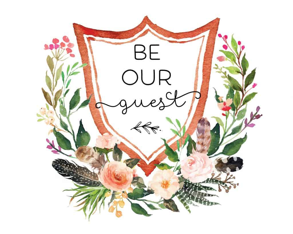 be our guest printable watercolor image