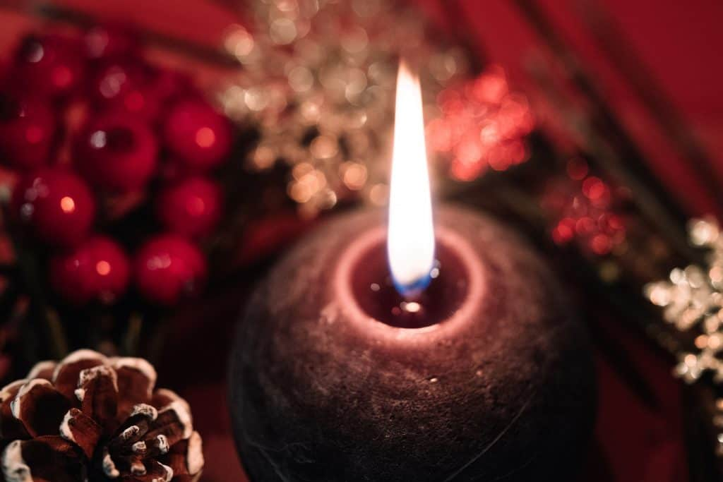 How to have a merry and safe christmas candle
