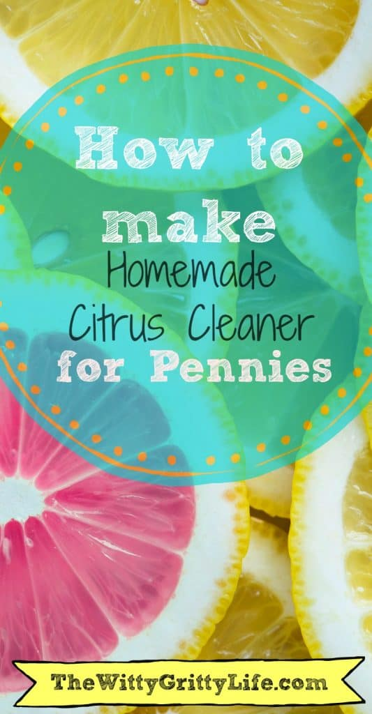 An easy homemade recipe for citrus cleaner that harnesses the power of essential oils and white vinegar. If you are looking for a natural cleaning recipe with the power of orange and lemon oils, you will absolutely love this one!