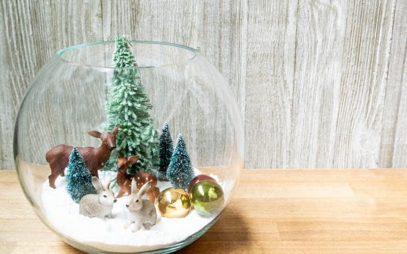 Easy Christmas Snow Globe