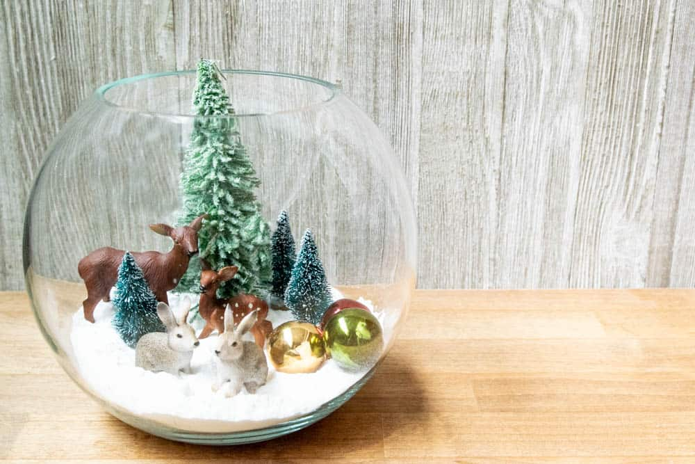 easy christmas snow globe winter scene