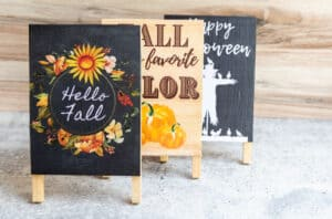 easy fall signs with mod podge
