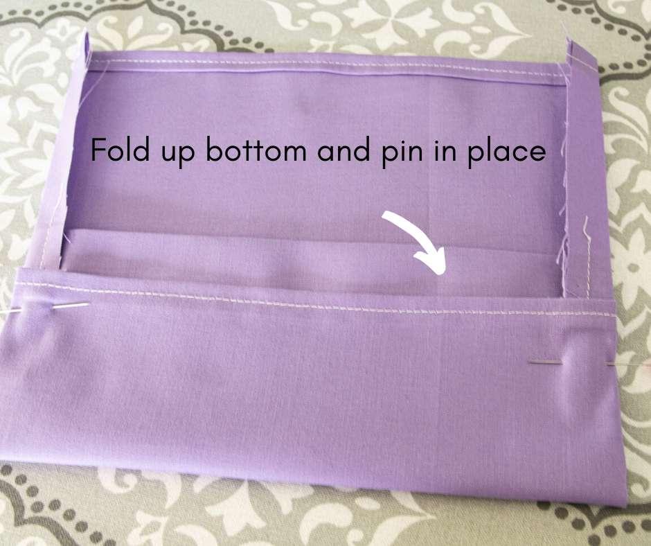bottom folded over