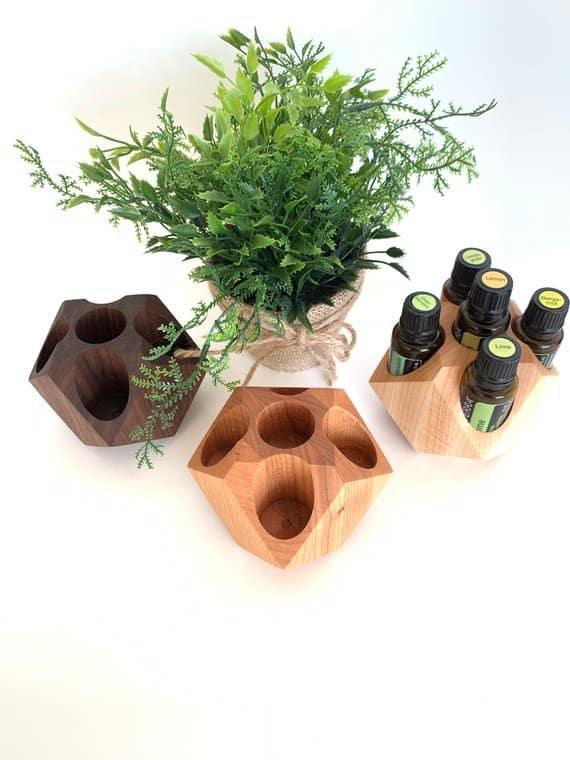geo cube essential oil display