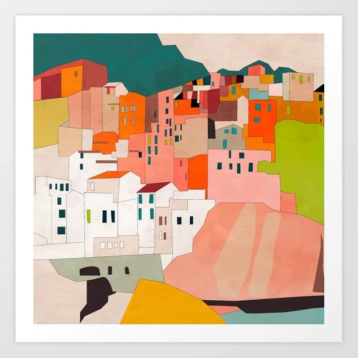 italy coast houses
