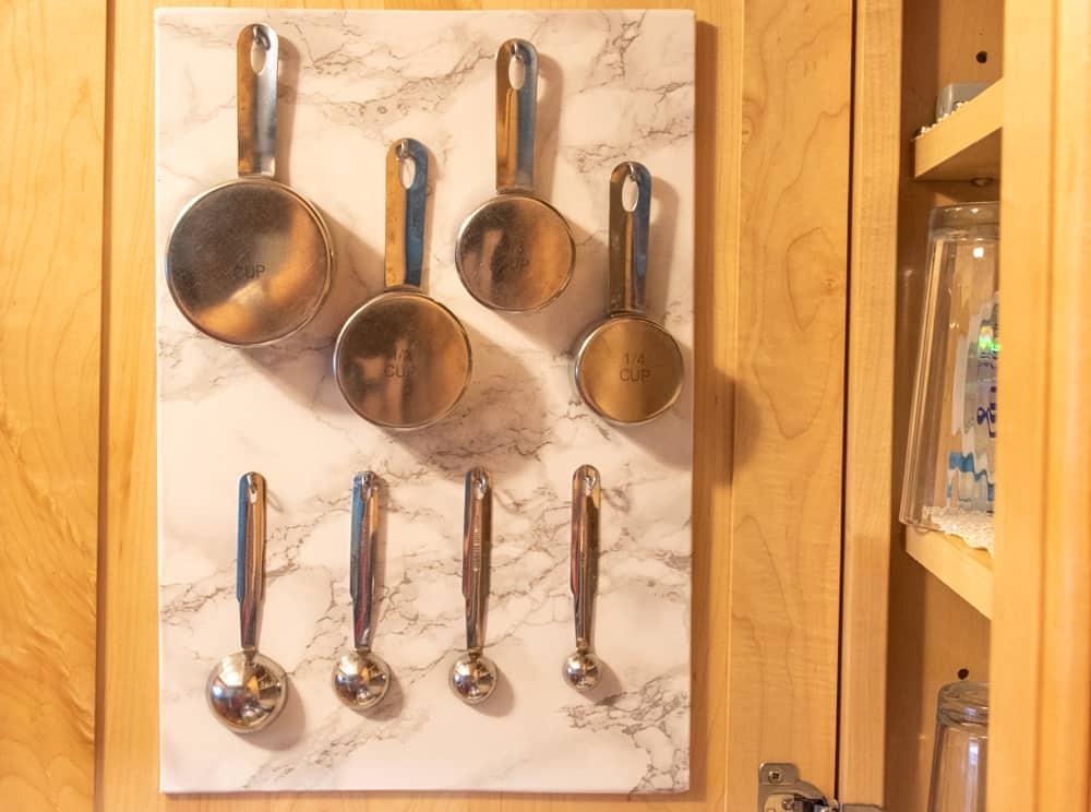 finished vertical kitchen storage